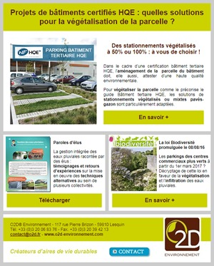 Newsletter O2D - octobre 2016