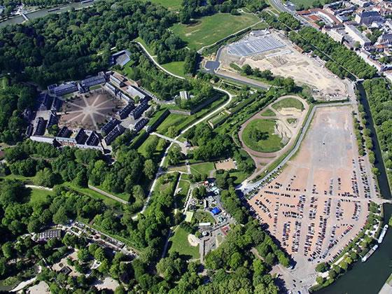 Parking paysager perméable à l'Esplanade de Lille