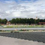 Plaatsing van de TTE-roosters voor waterdoorlatende parkeerplaatsen en toegangswegen (juli 2015)