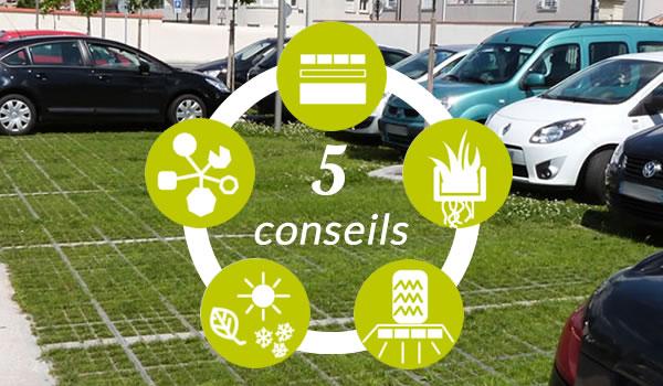 5 conseils pour parking végétalisé en dalles gazon