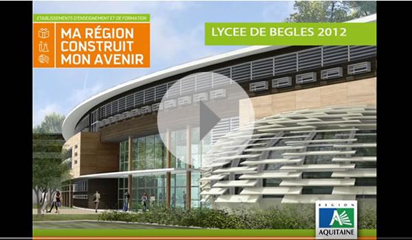 Lycée HQE et parking de bâtiments écologiques Bordeaux Bègles
