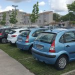 Parking gazon Hôpital Charles Perrens - mai 2016