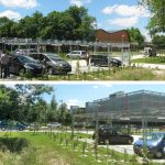 Intégration paysagère des parkings perméables écologiques