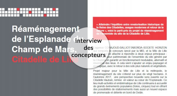Parking Champ de Mars de Lille interview des concepteurs