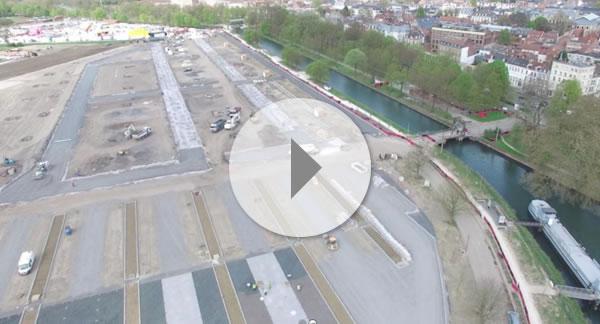 Parking de l'Esplanade de Lille vidéo et vue aérienne
