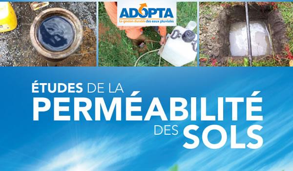 Perméabilité des sols : tests et études par l'adopta