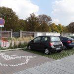 Parkeerplaats voor mindervaliden (oktober 2017)