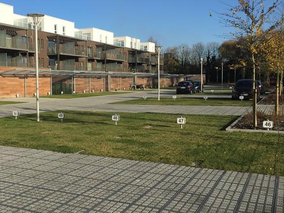 Revêtement de parking perméable stationnement et voie de circulation à Mons