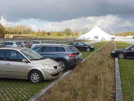 Revêtement perméable extérieur pour le parking de l'Esplanade de Lille