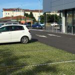 Parking végétalisé après 6 mois de mise en circulation (juin 2016)