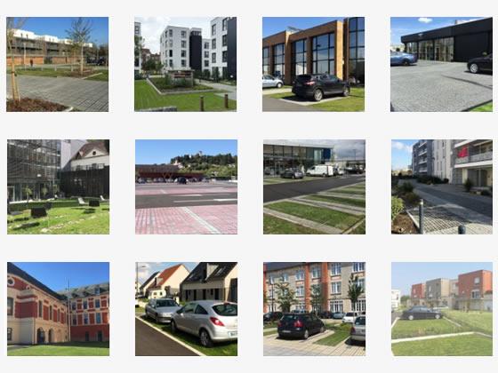 Réalisations de projets de parkings écologiques et perméables