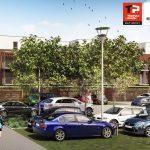 Plan du parking écologique de la résidence (Thomas et Piron - Sofateliers Architectes)