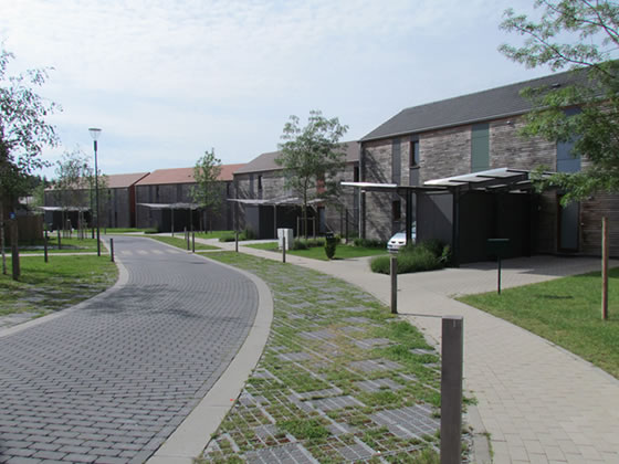 Templeuve végétalisation d'espaces logements durables