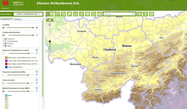 Cartographie Wallonie Inondation Ruissellement