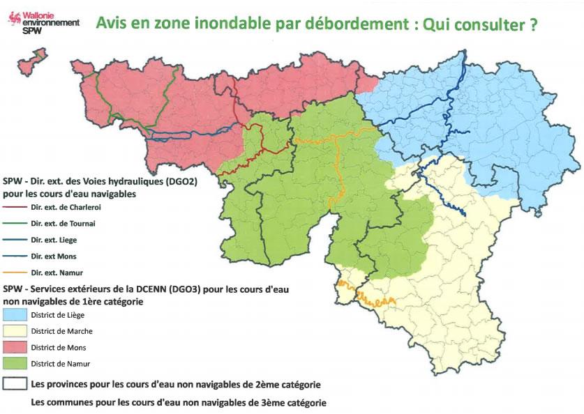 Risque d'inondation en Wallonie