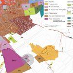 Plan du zonage de Neuville Saint Amand issu du PLUi (Zone 1AUec en rose)